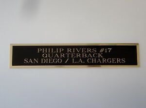 """Philip Rivers San Diego Chargers Engraved Nameplate 1.5"""" X 8"""""""