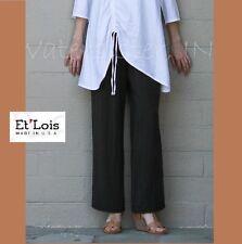 ET'LOIS USA  Glow Twill WALLIS PANT Straight-Leg w/ Pockets  S M L XL  OFF BLACK
