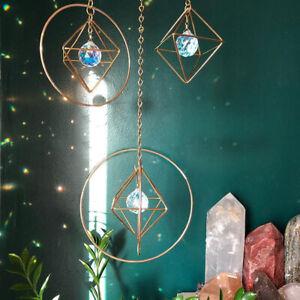 Natural Crystal Suncatcher Rainbow Catcher Hanging Prism Home Decor Art Window