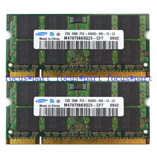 4GB 2X2GB DDR2-800MHZ PC2-6400S 200pin Sodimm Laptop Memory RAM 2Rx8 Samsung