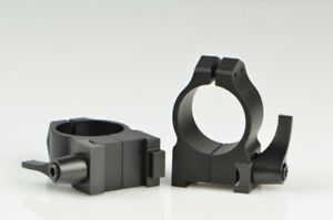 Warne Maxima Scope Rings for CZ 550 1 Inch Medium Quick Detach Matte 1BLM