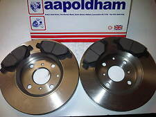 CITROEN C1 PEUGEOT 107 TOYOTA AYGO VENTED FRONT BRAKE DISCS & PAD SET 2005 ON
