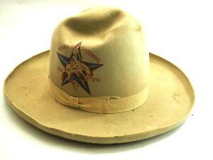 Original Texas Centennial Rodeo Cowboy Hat 1836-1936