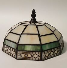 Small Spectrum Mission Arts & Crafts Stained Glass Leaded Lamp Shade