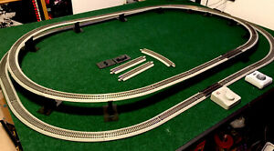 HO Scale Model Trains 25 Curve Pcs Bachmann Track 15 Straight Pcs.2-Power Supply