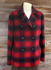 Brooks Brothers Red Fleece Plaid Wool Jacket Size 6
