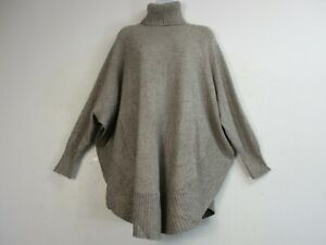 LADIES/WOMENS LAGENLOOK  KNITTED PONCHO/CAPE/JUMPER/POLO 7 COLOURS ONE SIZE:PLUS