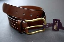 NWT Coach $138 Men's Bromfield Hardness Casual Brown Leather Belt F90234 95cm 38