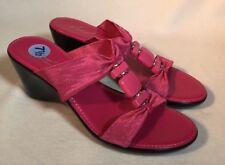 5d8a264ab6 KIM ROGERS Shoes women's size 7.5 pink open toe wedges sandals heels