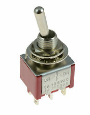 On/Off/On 3-Position Mini Toggle Switch Car Dash Dashboard DPDT 12V