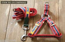 Red Small Dog Lead Leash&Harness comfort strong cotton combo stylist vintage