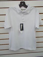 Boys Universal White School Uniform Polo Style Shirt Size 5 - 12