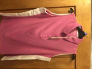 ladies callaway sleeveless golf polo shirt size M