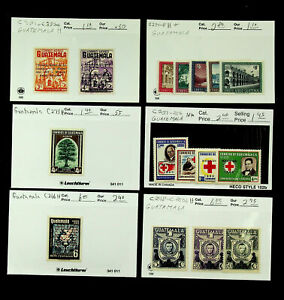 GUATEMALA FAMOUS PEOPLE ARCHITECTURE RED CROSS 16v MINT STAMPS CV $20