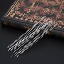 40x Beading Needles Threading Cord Tool DIY Jewelry Stainless Steel 0.6*120 mm