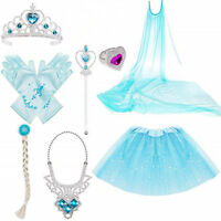 Princess Belle Dress up Party Glove Wand Tiara Necklace Crown Gift Accessory Set