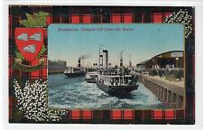 PADDLE STEAMERS AT BROOMIELAW: Glasgow postcard (C21278)