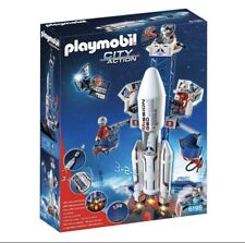 New in Box Playmobil City Action 6195 Space Rocket w Launch Site Light Sound