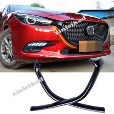 Carbon Fiber Style Front Bumper Grille Frame Trim Cover For Mazda 3 Axela 17-19