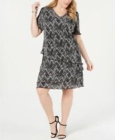 Connected Apparel Women's Plus Size Tiered A-Line Dress Size 24W