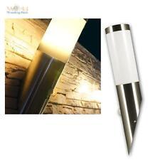 """Außen-Wandleuchte """"Fackel"""" mit Bewegungsmelder, Edelstahl, PIR 230V E27 Lampe"""