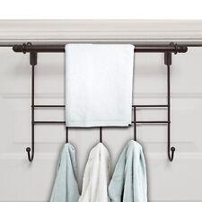 Towel Door Hanger includes Towel Rack Bar, 5 Towel Hooks, No Assembly Required,
