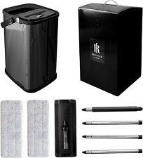 Rhodium Floor Mop and Bucket Set, Stainless Steel Bucket and Telescopic Handle