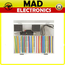 161 Piece Heatshrink Pack with Gas Powered Heat Blower Mixed with colors & sizes