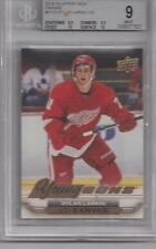 2015-16 upper deck canvas young gun DYLAN LARKIN GRADED 9 MINT w/2 10's subgrade