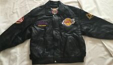 Lakers NBA Champions 1999/2000 Black Leather Jeff Hamilton Jacket! Size L