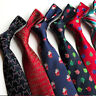 Classic 8CM Men's Necktie Silk Tie Floral Jacquard Woven Christmas Neck Ties