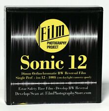 16MM FILM - FPP SONIC12 BW REVERSAL -12 ISO - 100 FT (30m) SINGLE PERF - FRESH