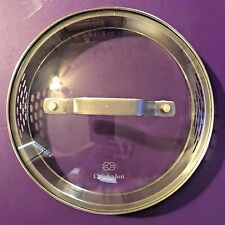 """New listing Calphalon Replacement Glass 7"""" Lid - inside rim is 6.5� Side Vents - Stainless"""