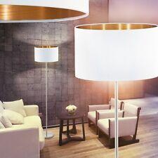 Lese Leuchten Stand Boden Lampen Stehlampe Schlaf Wohn Zimmer Stoff weiß/gold