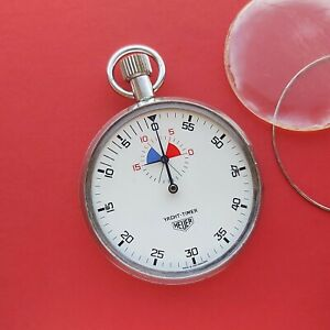 1965 Heuer Yacht Timer stopwatch timer stop watch dial Swiss Tag