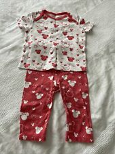 Girls Minnie Mouse Pyjamas By F&F Age 6-9 Months