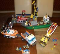Lego City 4645 Großer Hafen + 4643 Powerboot-Transporter + 7726 Küstenwache TOP