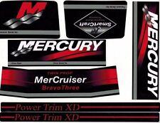 MERCRUISER BRAVO THREE TWIN PROP  W/RED RAMS STICKER SET