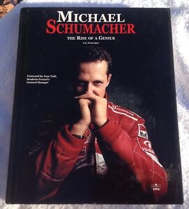 """MICHAEL SCHUMACHER """"THE RISE OF A GENIUS"""" (2002) PRE-OWNED BOOK"""