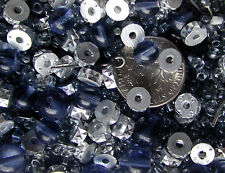 Vintage Pinwheel Rhinestone, Seed Beads, plus 3mm &3mm Glass Beads 1/2 Lb XL LOT