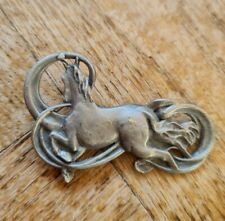 More details for horse equine pewter brooch pin badge - griff 03 made in uk