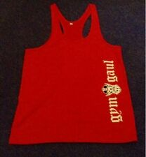 GYM GAUL - OLD ENGLISH VEST (Red)(M-XXXL) bodybuilding-RETURNING TO £9.99 SOON