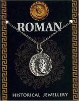 Roman Trajan Coin Pendant On A Chain