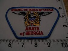 "ABATE of GEORGIA ""DEDICATED TO FREEDOM OF THE ROAD"" VEST JACKET PATCH"