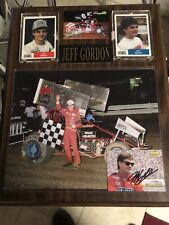 Jeff Gordon World Of Outlaws Sprint Car Racing USAC NASCAR Autographed Display