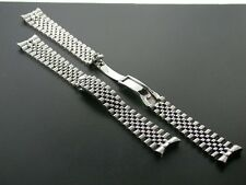 JUBILEE WATCH BAND SOLID LINK FOR ROLEX HIDDEN CLASP 20MM STEEL HEAVY 316L