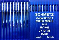 SCHMETZ B-27 DCX27 UY191GS SIZE60/8 INDUSTRIAL OVERLOCKER SEWING MACHINE NEEDLE
