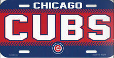 Chicago Cubs Plastic License Plate