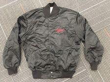 Vintage George Strait Bomber Jacket Black L Snap Button Tourwear 80s Tour Nylon