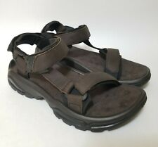 Teva Men's 8 Terra Fi 4 Leather Turkish Coffee Brown Hiking Sandals 1006251
